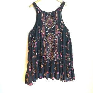 Free People Ultimately Brown Print Dress